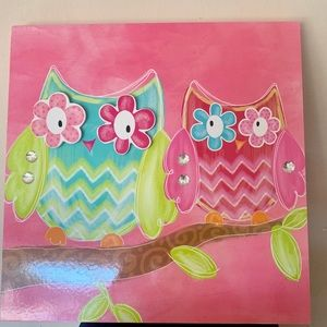 Other - Canvas 2 cute Owls with rhinestones